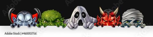 Fotografia Monster Group Banner
