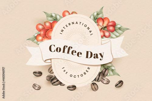 International coffee day banner design vector
