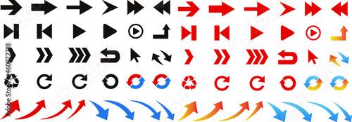 Fotografie, Obraz シンプルな矢印のアイコンセット