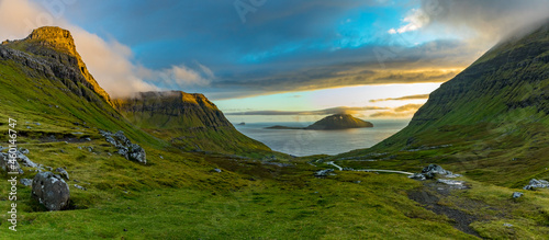 Canvas Print Faroe Islands-Koltur island