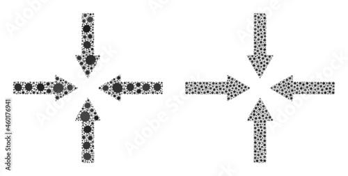 Photo Vector coronavirus composition shrink arrows created for medicare illustrations