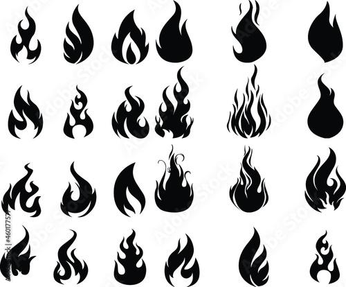 Fotografie, Obraz fire flames set