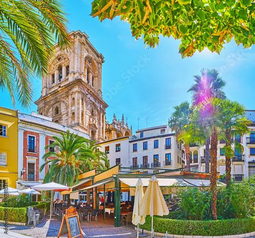 Canvas Print The Romanilla square, Granada, Spain