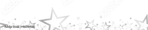christmas banner with colored stars
