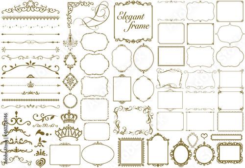 Vector set frames and vignette for design template Fotobehang
