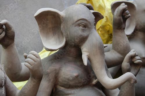 Canvas statue of ganapati