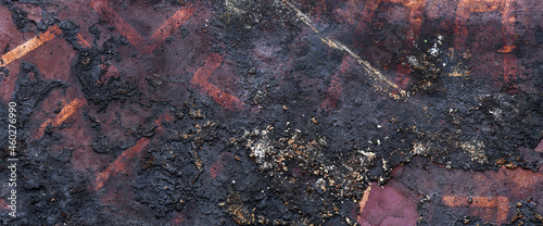 grunge background with scratches, scary dark color, metal texture