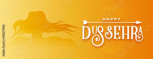 Photo happy dussehra traditional golden banner design