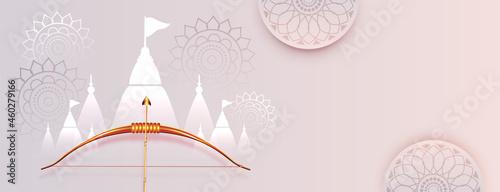 Canvas Print elegant dussehra festival banner design