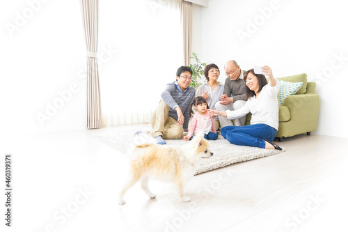 Fotografia, Obraz 家族全員で写真を撮るファミリー