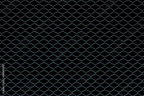 Canvastavla 3D illustration  silver metal mesh
