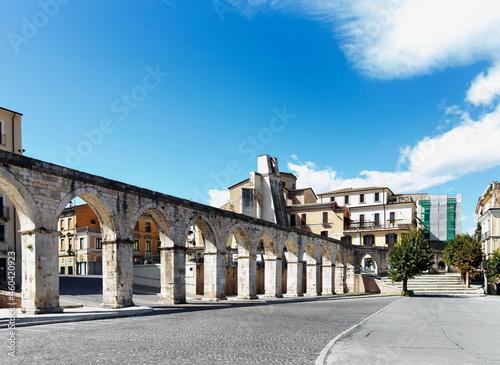 Fotografiet Medieval aqueduct Sulmona