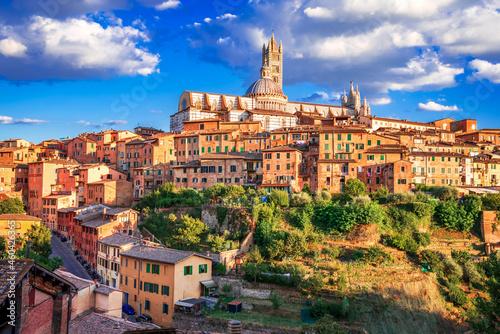 Fotografia Siena, Tuscany, Italy - Torre del Mangia and the Dome