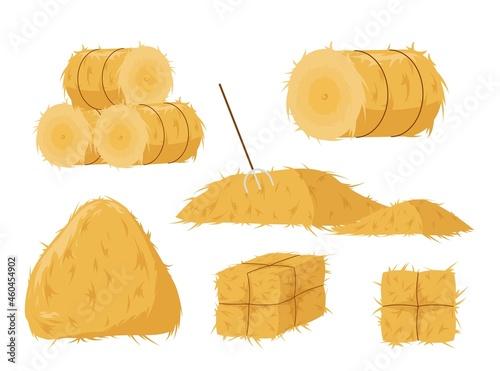 Fotografie, Obraz Haystacks of various shapes