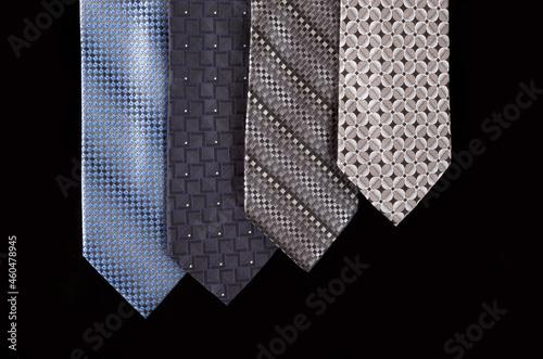 Obraz na płótnie neckties isolated against black