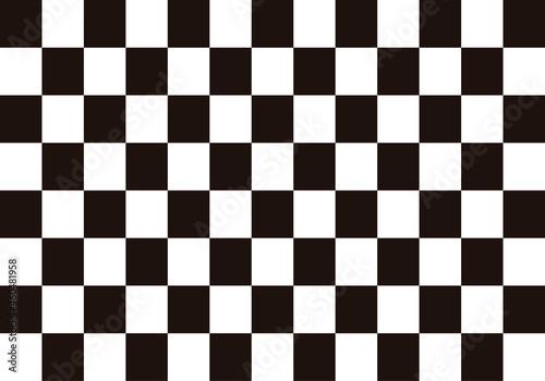 Fotografering Fondo de ajedrez con casillas negras y blancas.