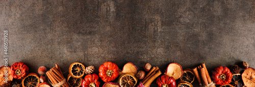 Fotografia Autumn baking spices and ingredients