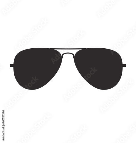 cool aviator sunglasses silhouette Fototapet