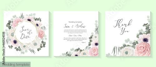 Fotografering Vector floral frame