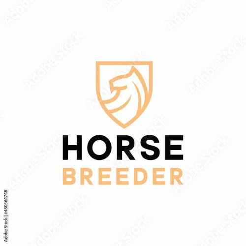Canvastavla horse breeder Logo vector design