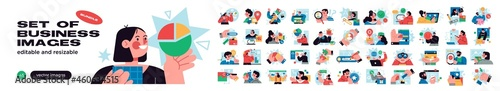 Fotografia Business Concept illustrations