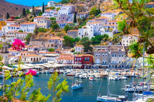 Fotografie, Tablou View of the amazing Hydra island, Greece.
