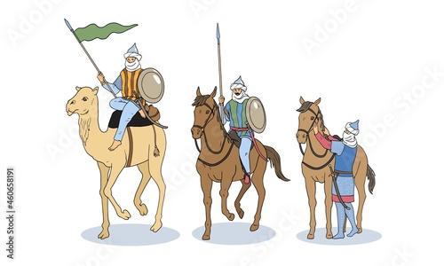 Fotografiet Set of islamic knights