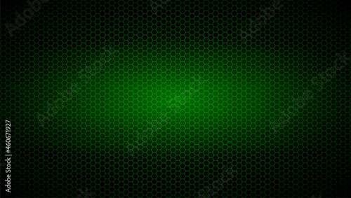 Canvastavla background of hexagons of green color with radiance