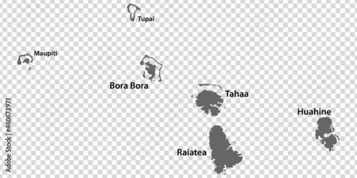 Wallpaper Mural Blank map Leeward Islands in gray
