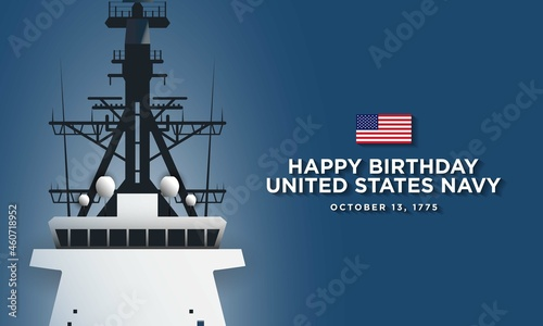 Obraz na plátně United States Navy Birthday Background Design
