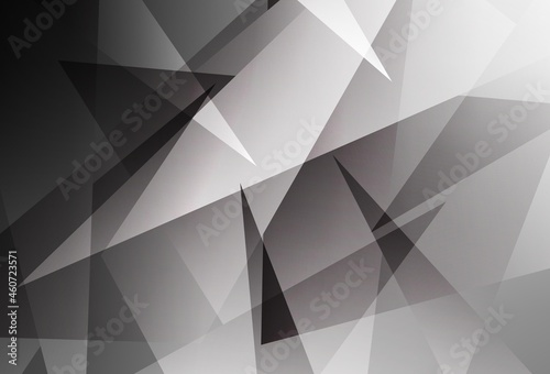 Fotografering Light Gray vector background with polygonal style.