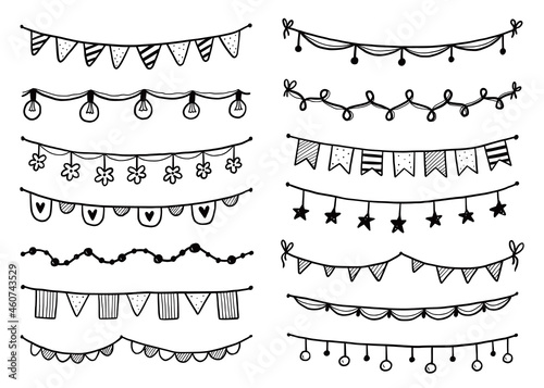 Fotografering Party garland set with flag, bunting, pennant