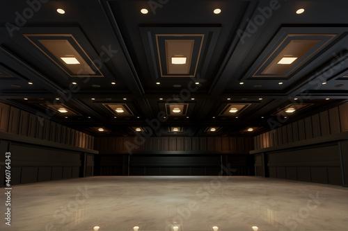 Fotografering Empty convention hall center