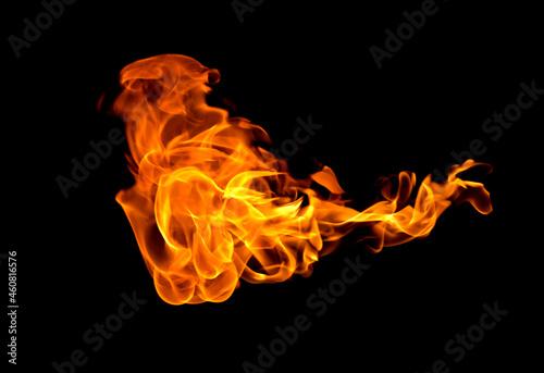 Obraz na plátně Fire flames background