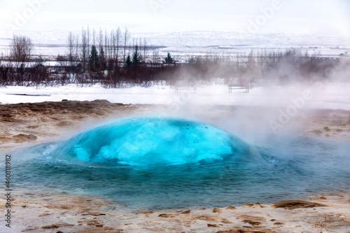 Tablou Canvas The famous Strokkur geyser erupting, Iceland