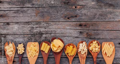 Fotografia Italian foods concept and menu design