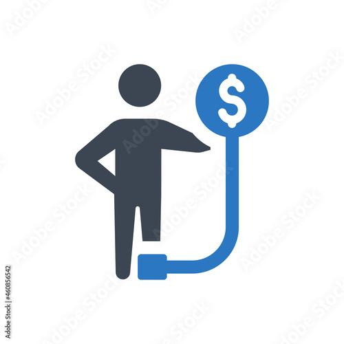 Fotografie, Tablou Borrower icon