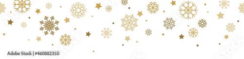 Wallpaper Mural seamless snow stars falling down