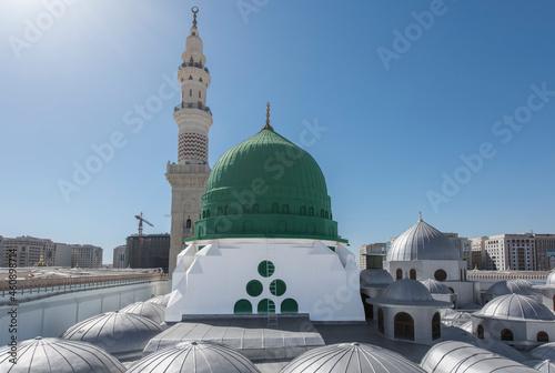 Fotografering The Green Dome of the Prophet's Mosque, Medina, Saudi Arabia