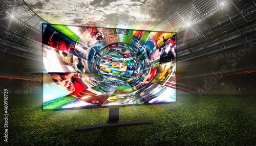 Streaming of soccer images on the internet in a digital cable