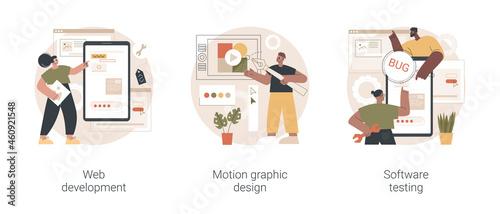 Obraz na plátně IT company service abstract concept vector illustration set