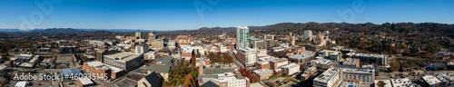 Fotografie, Tablou Aerial Views Of Asheville, North Carolina