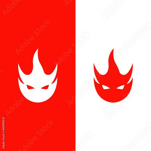 devil logo Fototapet