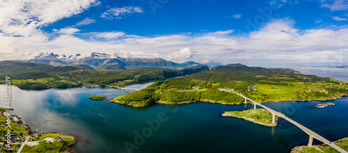 Fotografie, Obraz Panorama Beautiful Nature Norway natural landscape