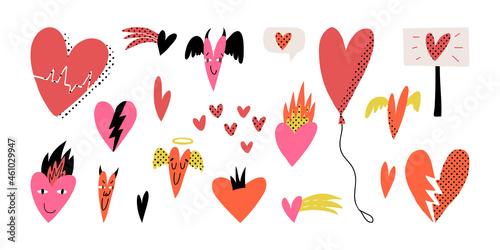 Valentine's Day pop art set Fototapet