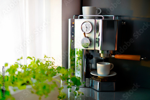 Foto Home Coffee machine in the kitchen