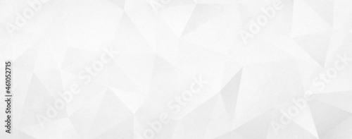 Abstract white geometric triangle background
