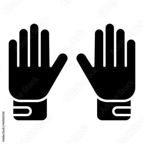 Fotografía Vector Goalie Gloves Glyph Icon Design