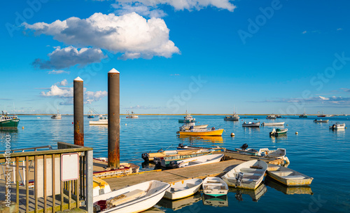 Fotografie, Obraz Mooring boats and dinghies at the commercial marina