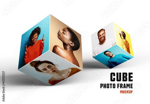 Cube Photo Frame Mockup